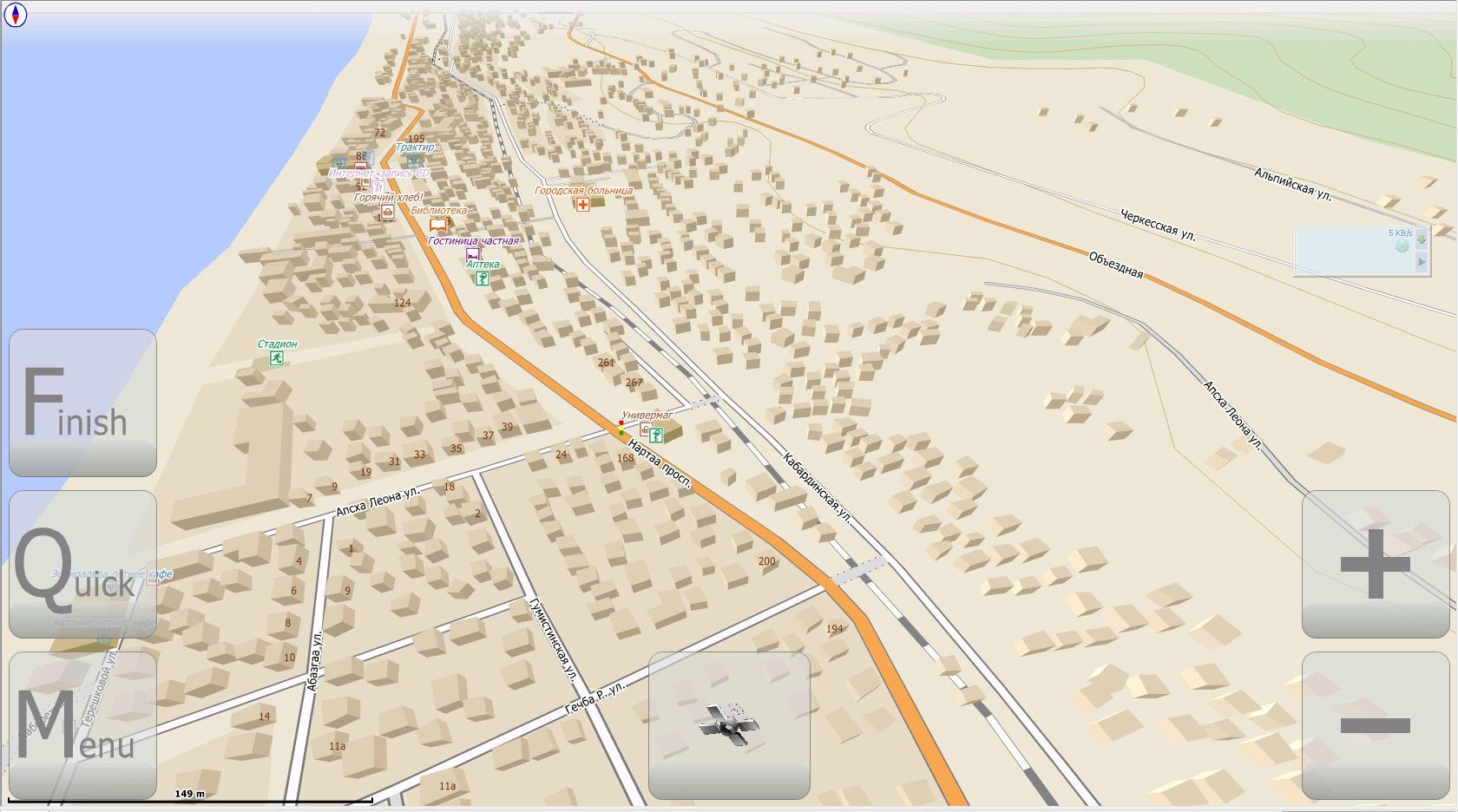 Карта гагра подробная номерами домов