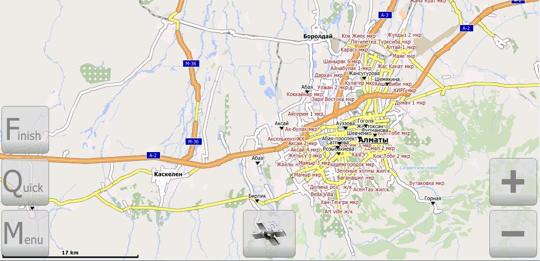 Поселок Отеген Батыра Карта